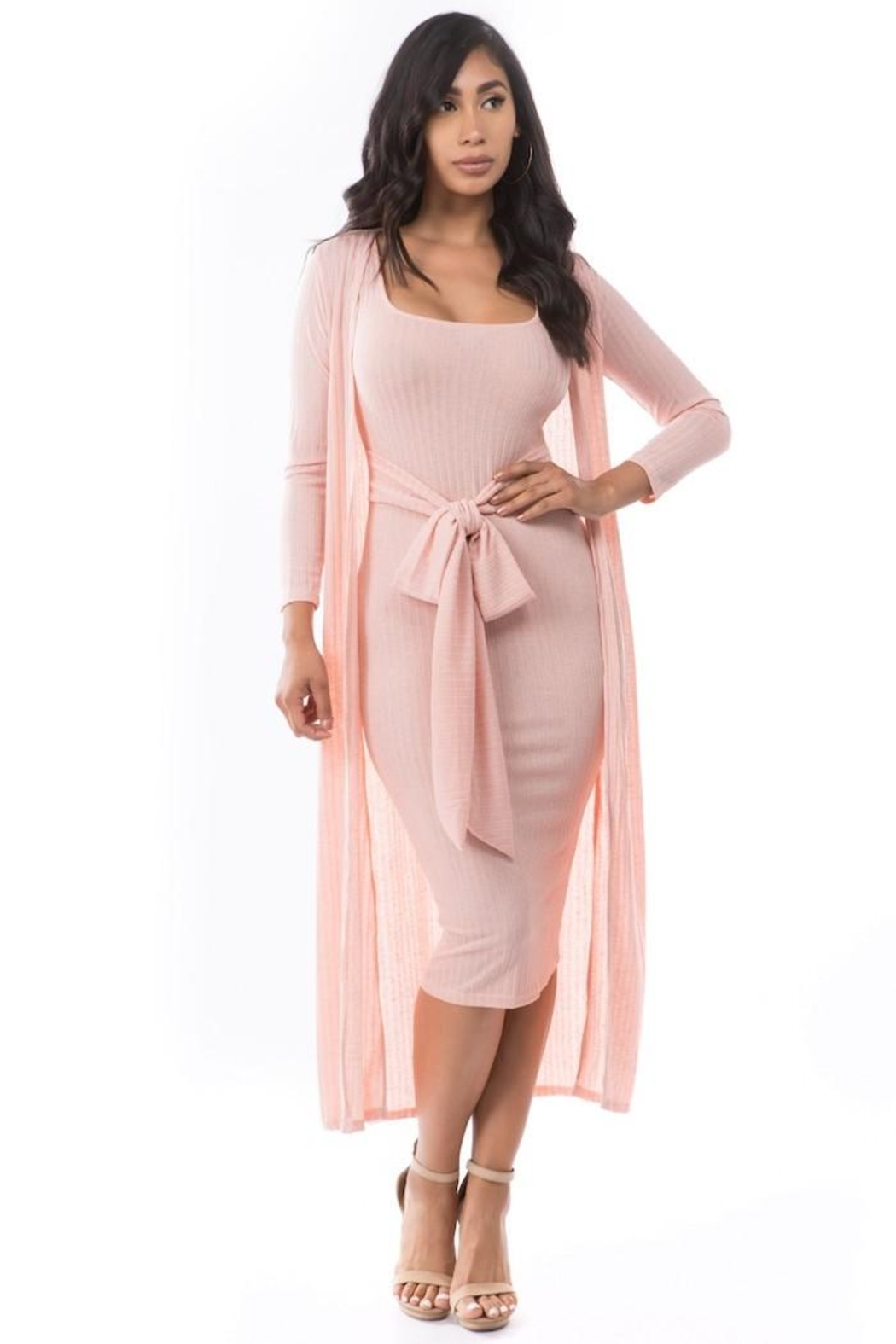 By Claude Knit Dress Set - Front Full Image