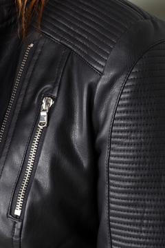 BY L Black Leather Jacket - Alternate List Image