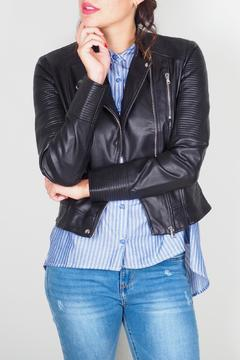 BY L Black Leather Jacket - Product List Image
