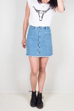 BY L Button Front Skirt - Product List Image