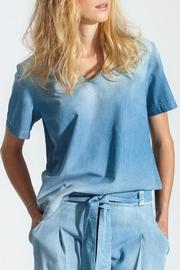 BY THE MOON Light Denim Top - Product Mini Image