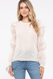 By the River Ivory Puff-Sleeve Top - Product Mini Image