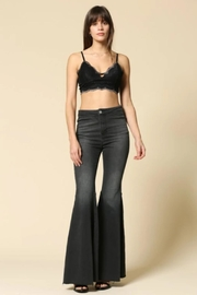 By Together Bell-Bottom Jeans, Black - Product Mini Image