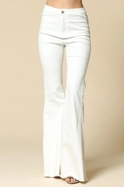 By Together Bell-Bottom Jeans, White - Front full body