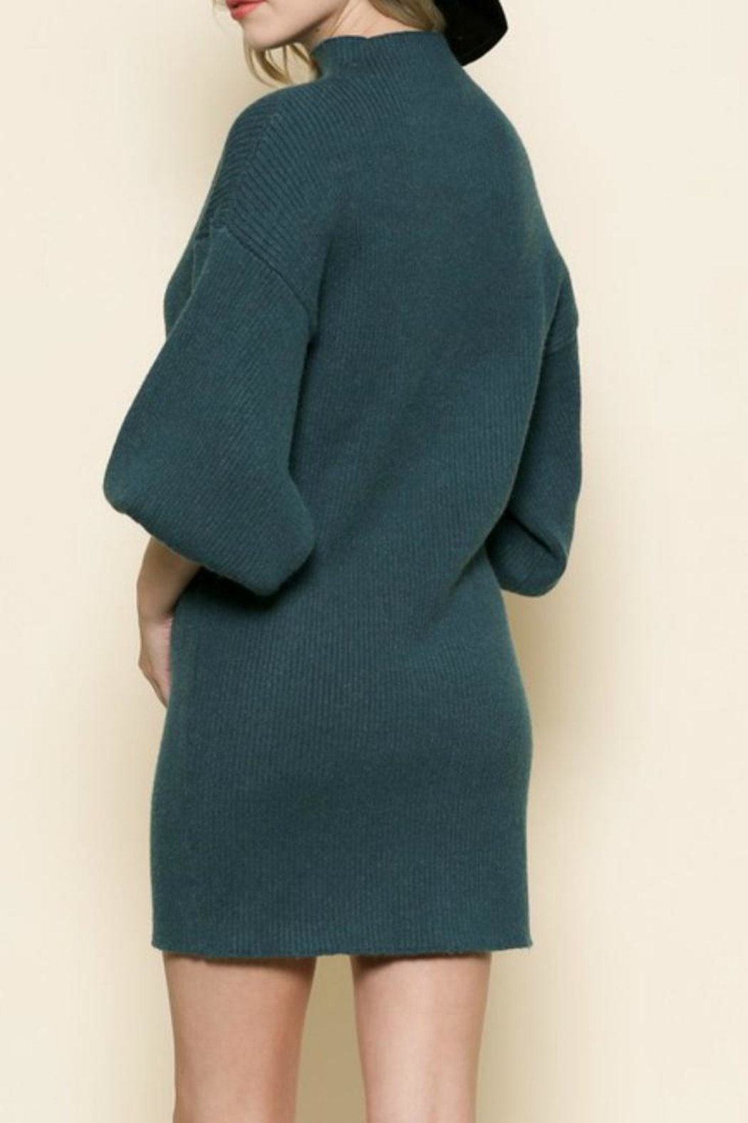 By Together Dark Teal Dress - Front Full Image