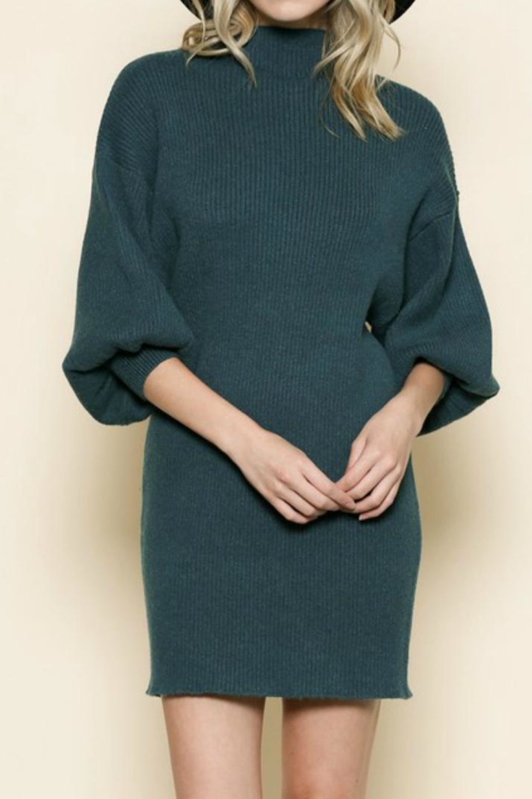 By Together Dark Teal Dress - Main Image