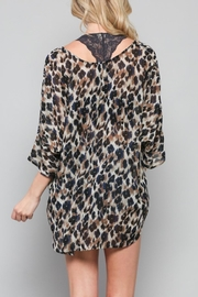 By Together Deep-V Leopard Top - Front full body