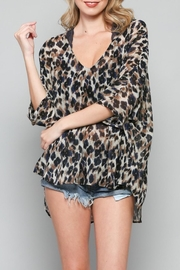 By Together Deep-V Leopard Top - Product Mini Image