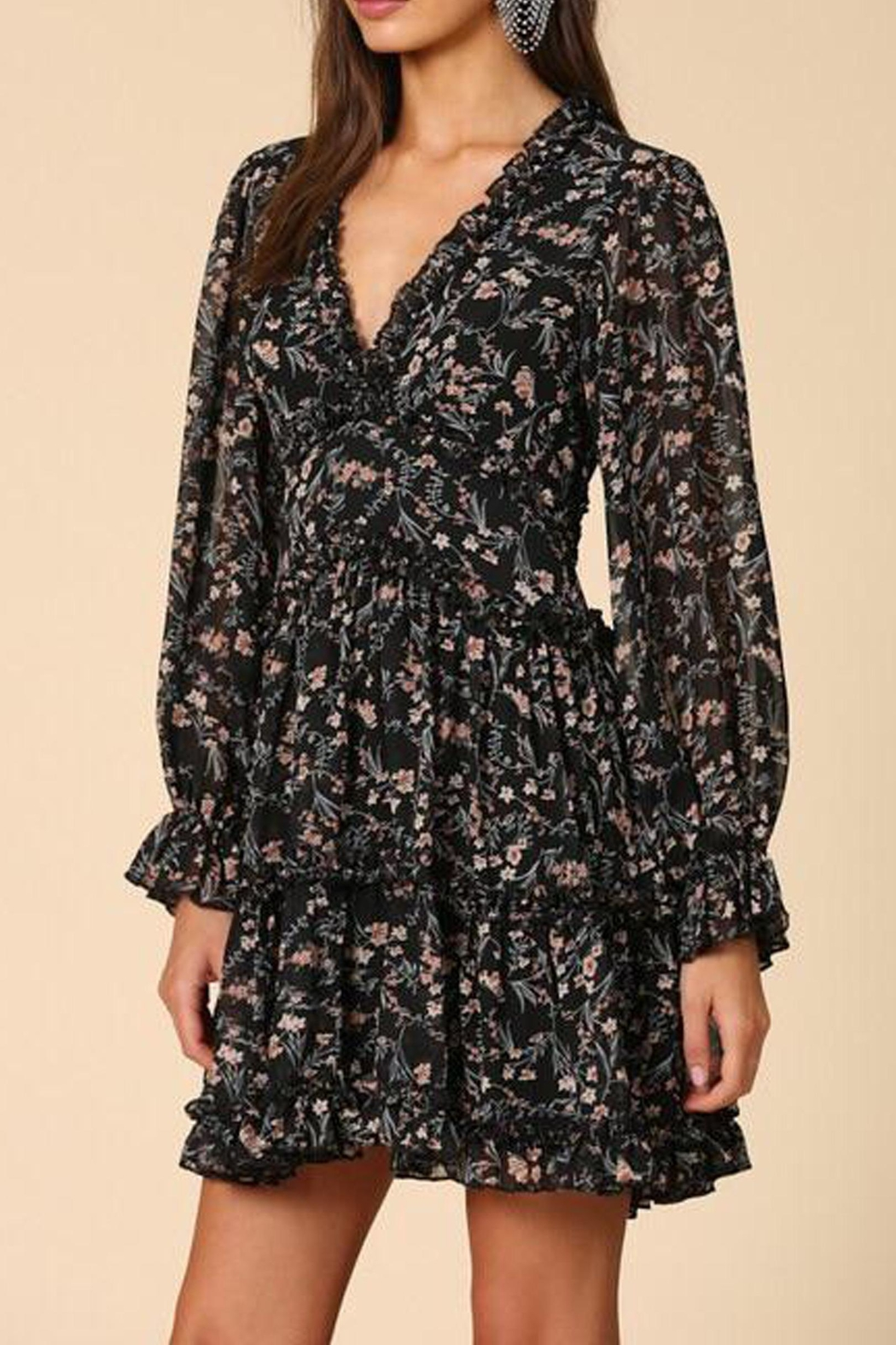 By Together Floral Chiffon Dress - Main Image