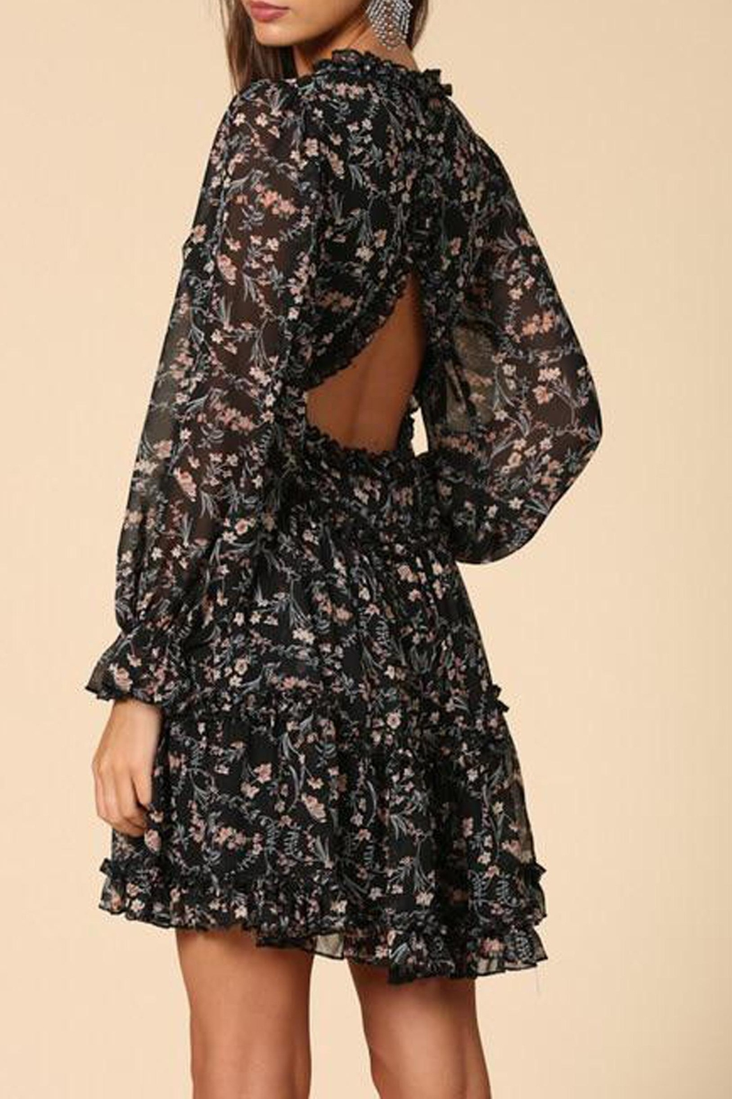 By Together Floral Chiffon Dress - Side Cropped Image