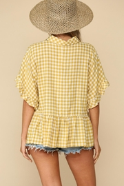 By Together Flutter Sleeve Blouse - Product Mini Image