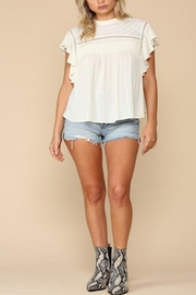 By Together Gauze Flutter Top - Product Mini Image