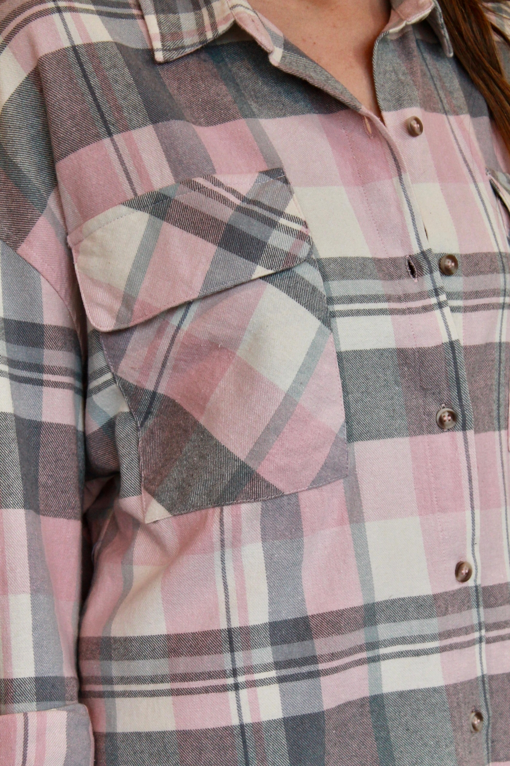 By Together Jordache Flannel - Back Cropped Image