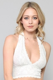 By Together Lace Halter Bralette - Front cropped