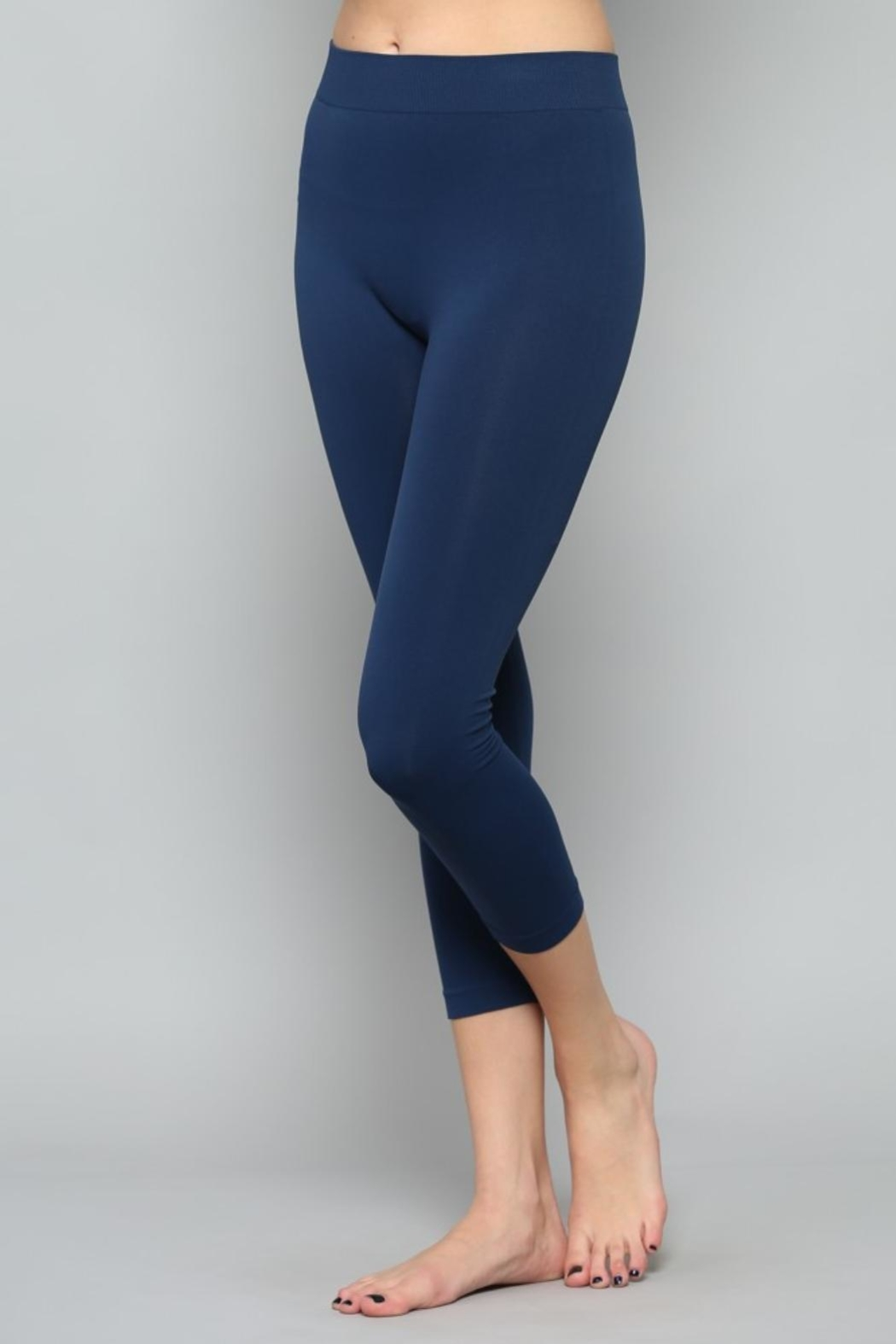 By Together Navy Cropped Legging - Side Cropped Image