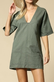 By Together Olive V-Neck Dress - Product Mini Image