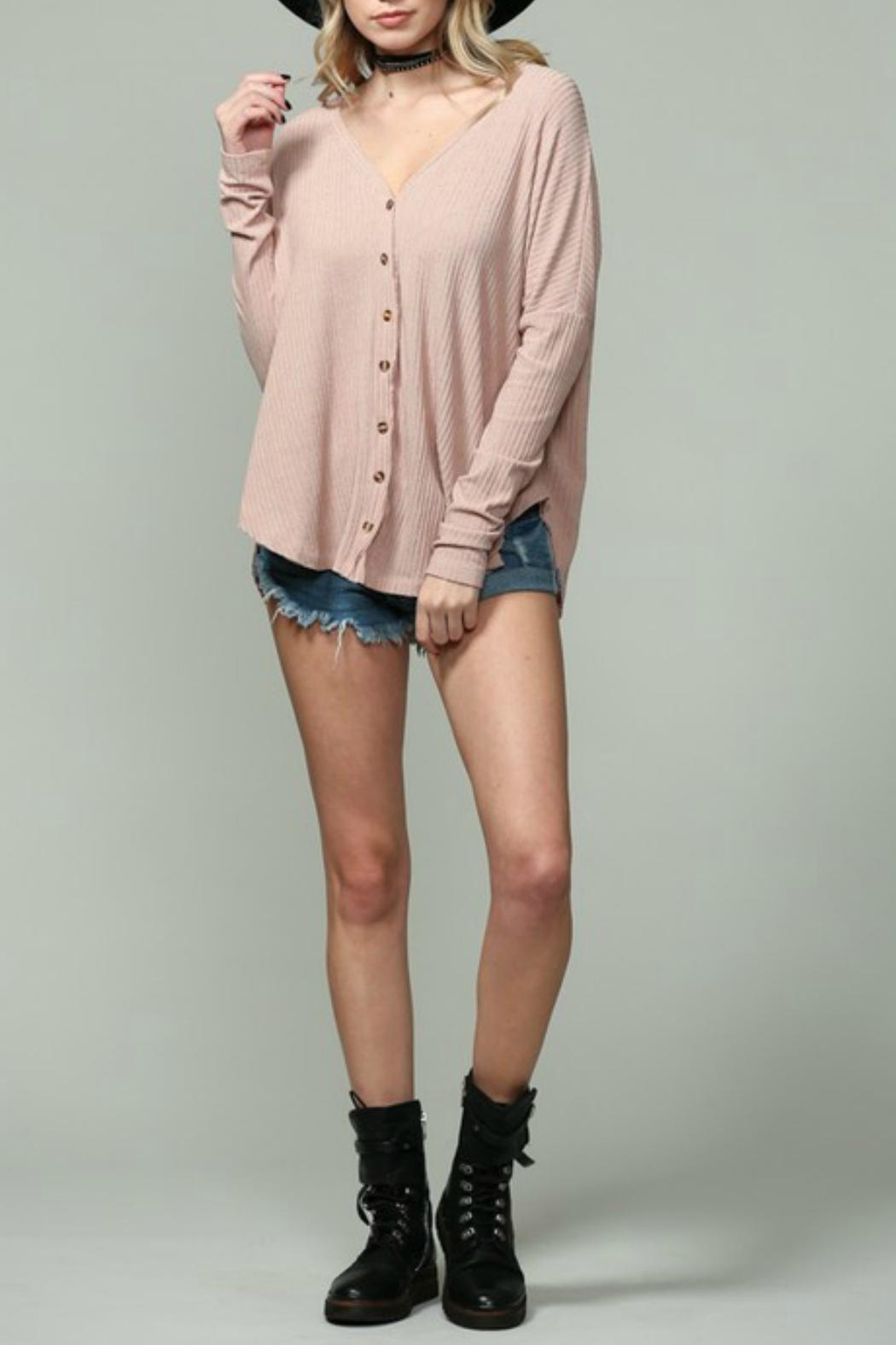 By Together Ribbed Button Down - Main Image