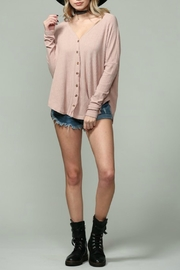 By Together Ribbed Button Down - Front cropped