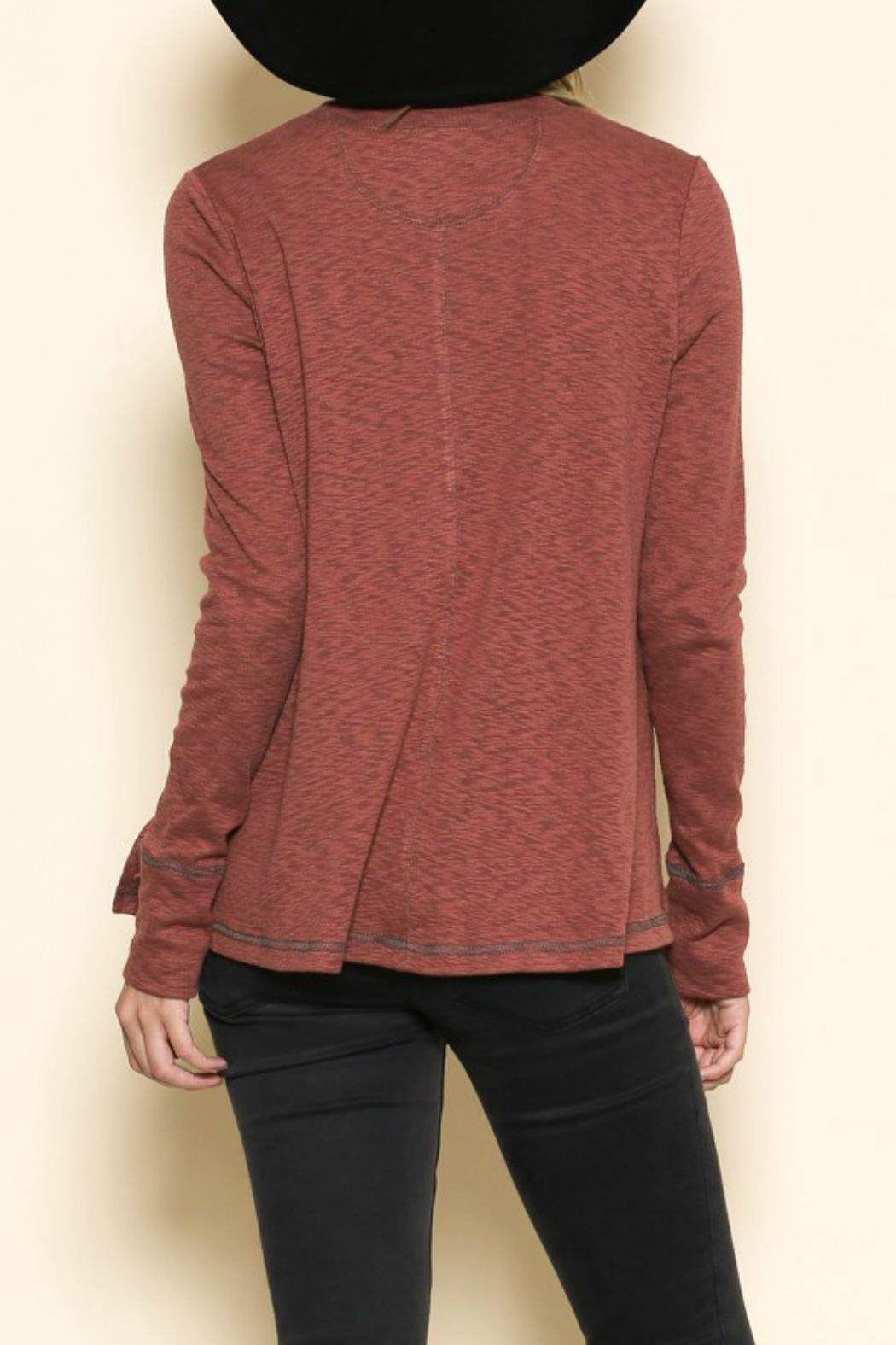 By Together Rust Basic Top - Front Full Image