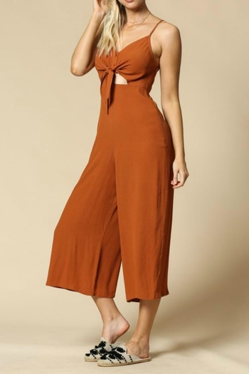 efc62d169e934 By Together Rust Jumpsuit from Tennessee by Threads — Shoptiques
