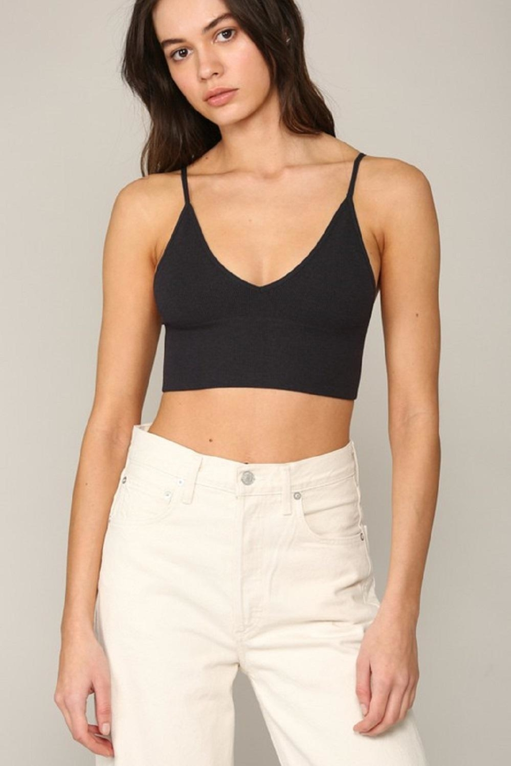By Together Seamless Ribbed Brami - Front Cropped Image