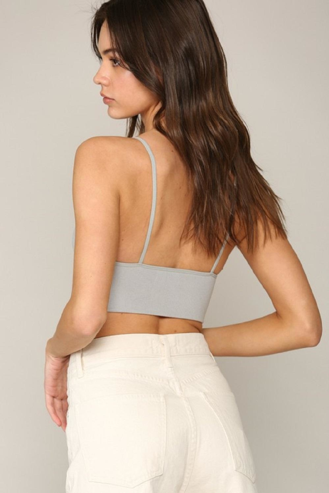 By Together Seamless Ribbed Brami - Back Cropped Image