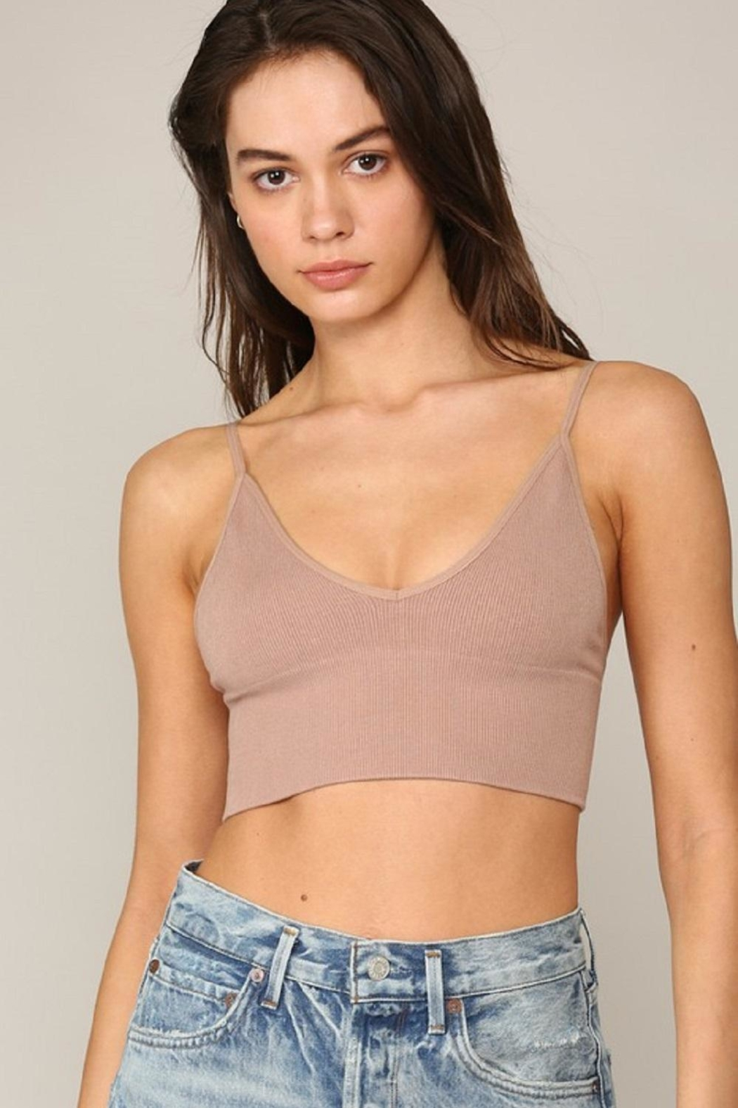 By Together Seamless Ribbed Brami - Front Full Image