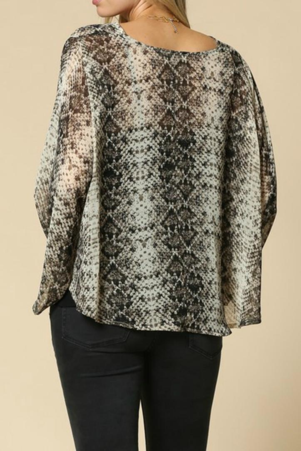 By Together Snakeskin Top - Front Full Image