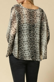 By Together Snakeskin Top - Front full body