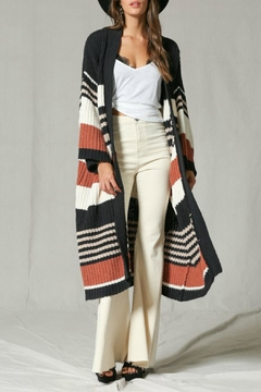 By Together Striped Cardi Duster - Product List Image