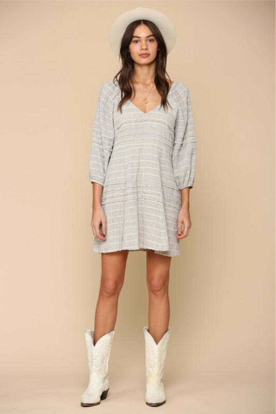 By Together Striped Gauze Dress - Side Cropped Image