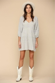 By Together Striped Gauze Dress - Side cropped