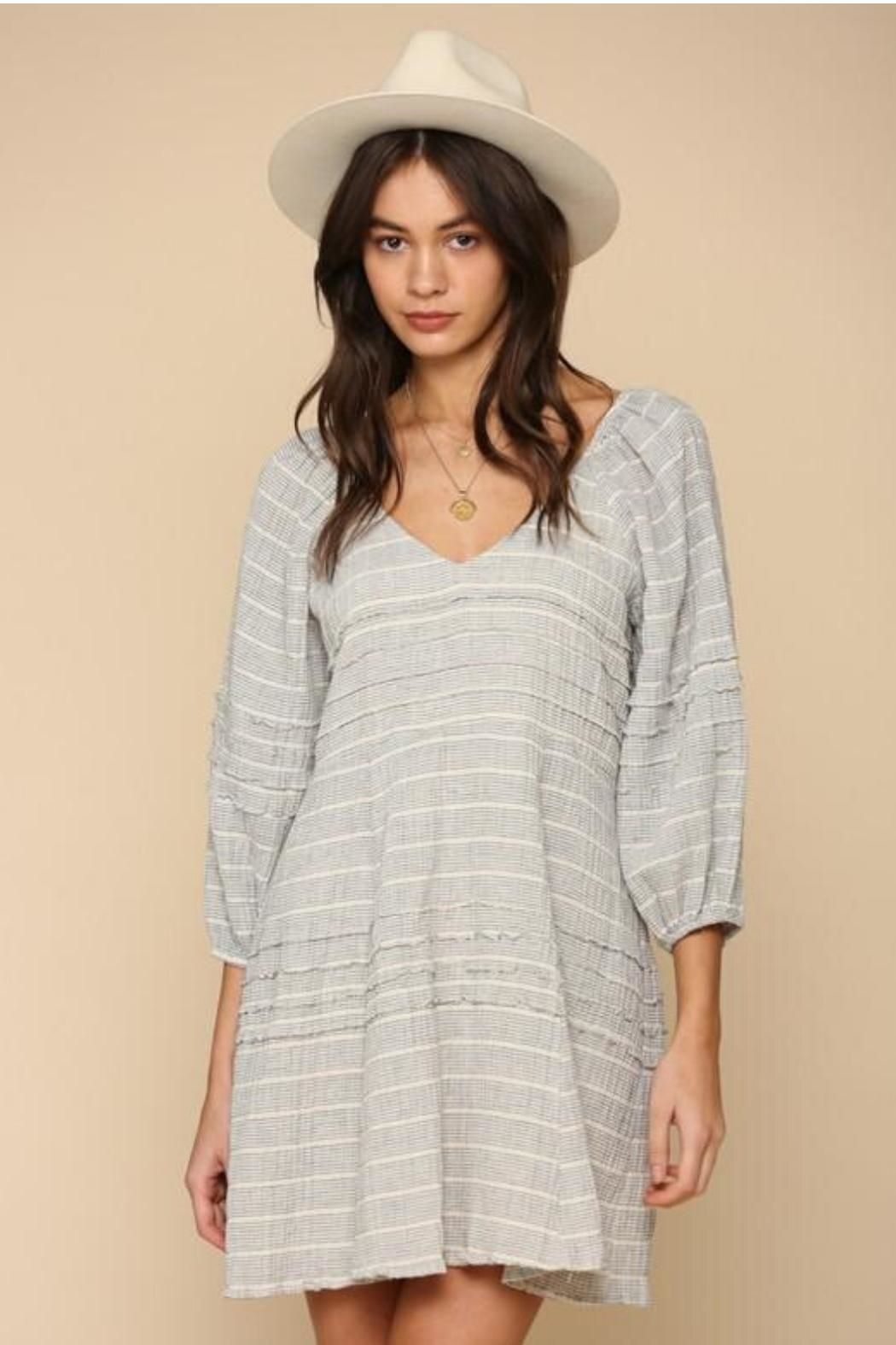 By Together Striped Gauze Dress - Main Image