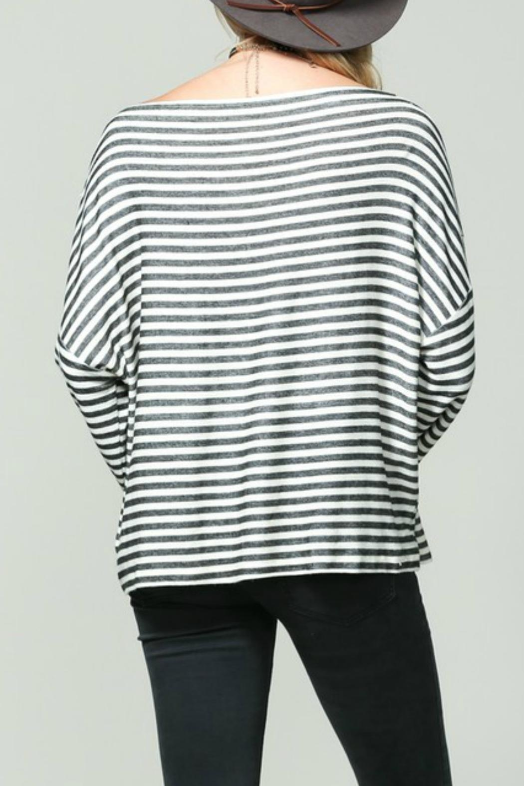 By Together Striped Longsleeve Top - Front Full Image