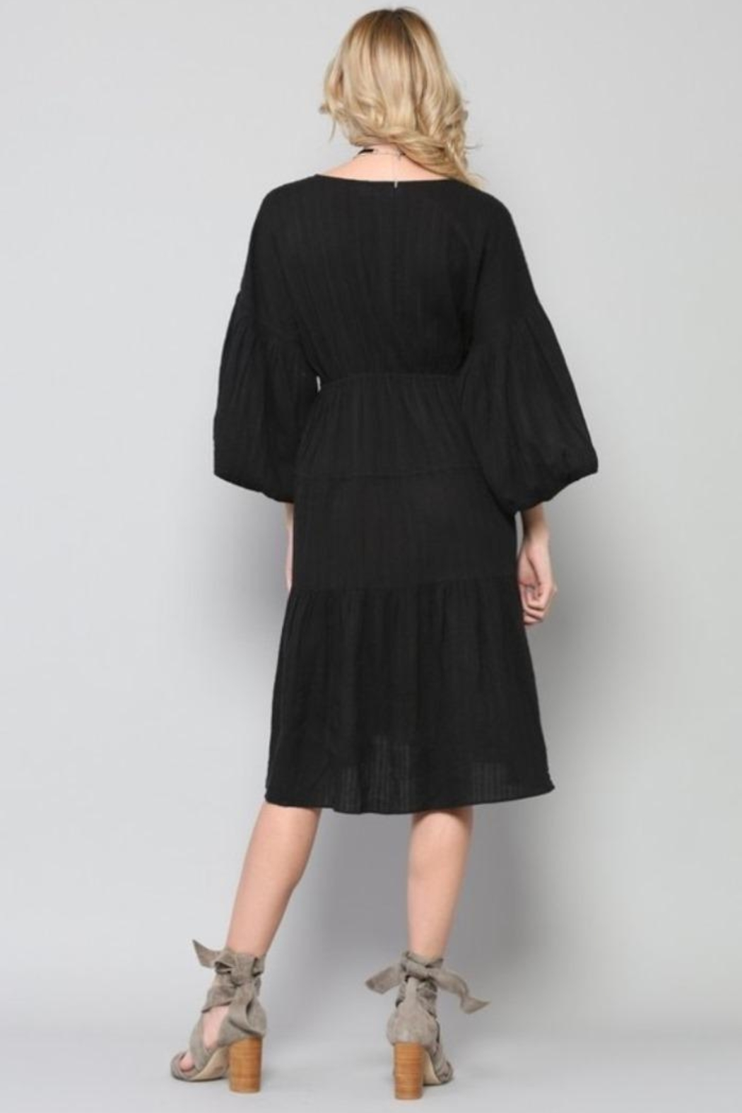 By Together Tiered Dress - Side Cropped Image
