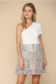 By Together Tiered Floral Skirt - Front cropped