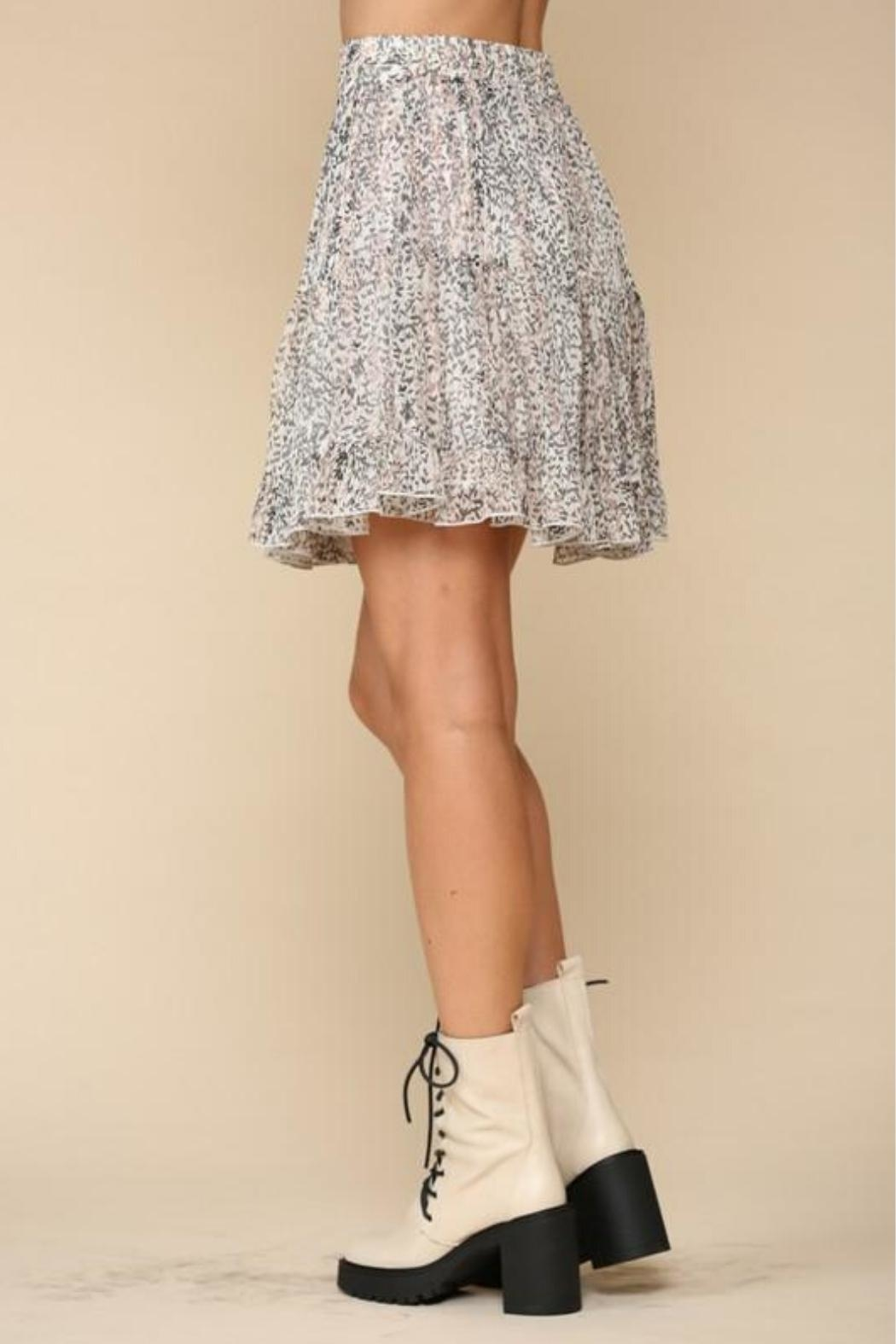 By Together Tiered Floral Skirt - Back Cropped Image