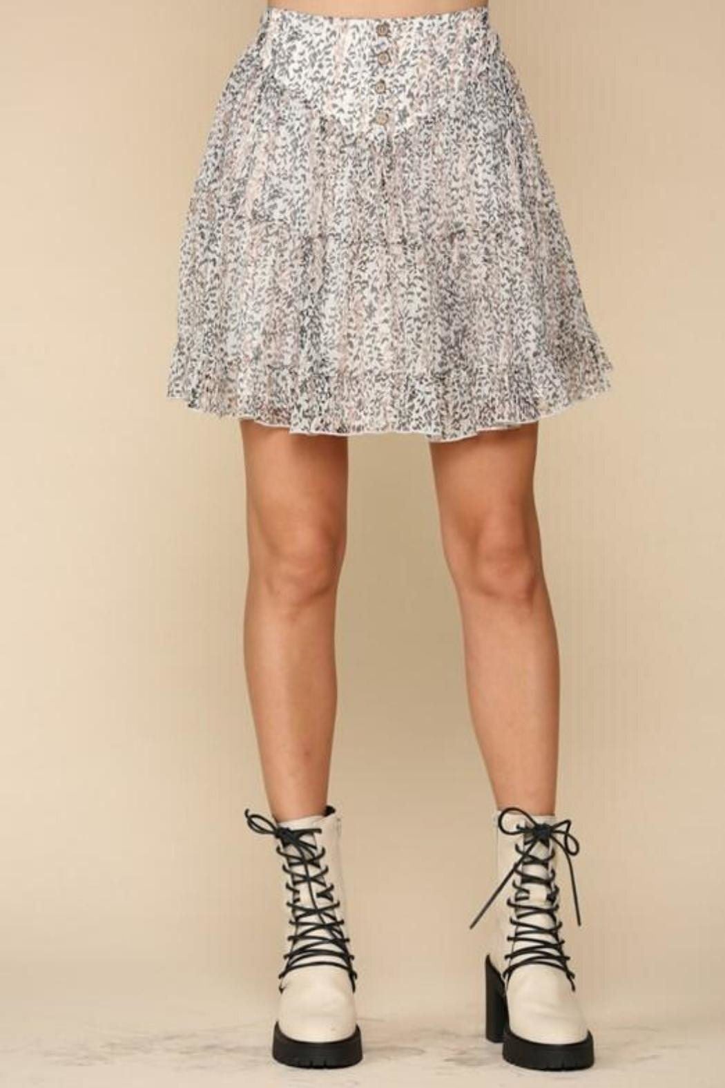 By Together Tiered Floral Skirt - Side Cropped Image