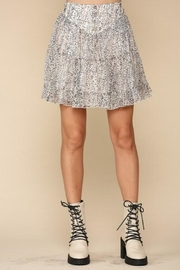 By Together Tiered Floral Skirt - Side cropped