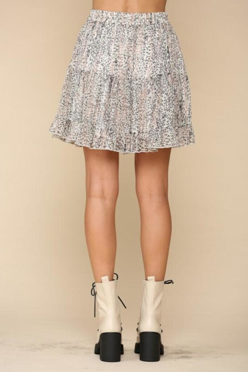 By Together Tiered Floral Skirt - Front Full Image