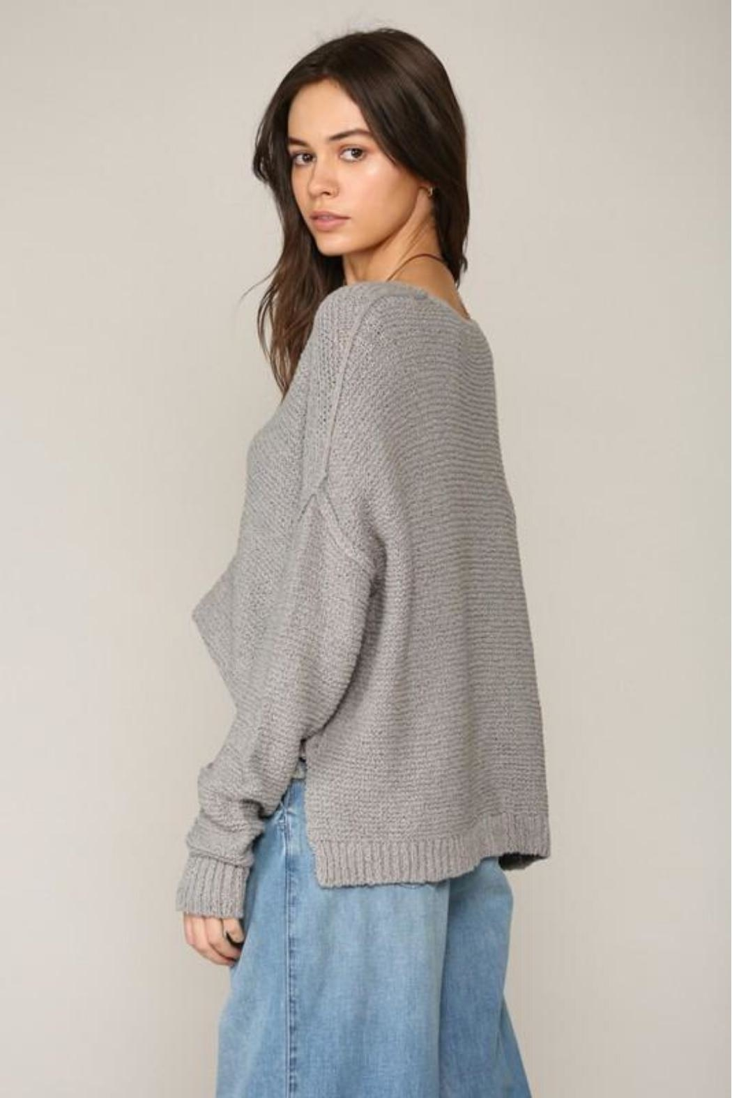By Together V-Neck Knit Sweater - Side Cropped Image