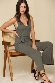By Together V-Neck Ribbed Jumpsuit - Product Mini Image