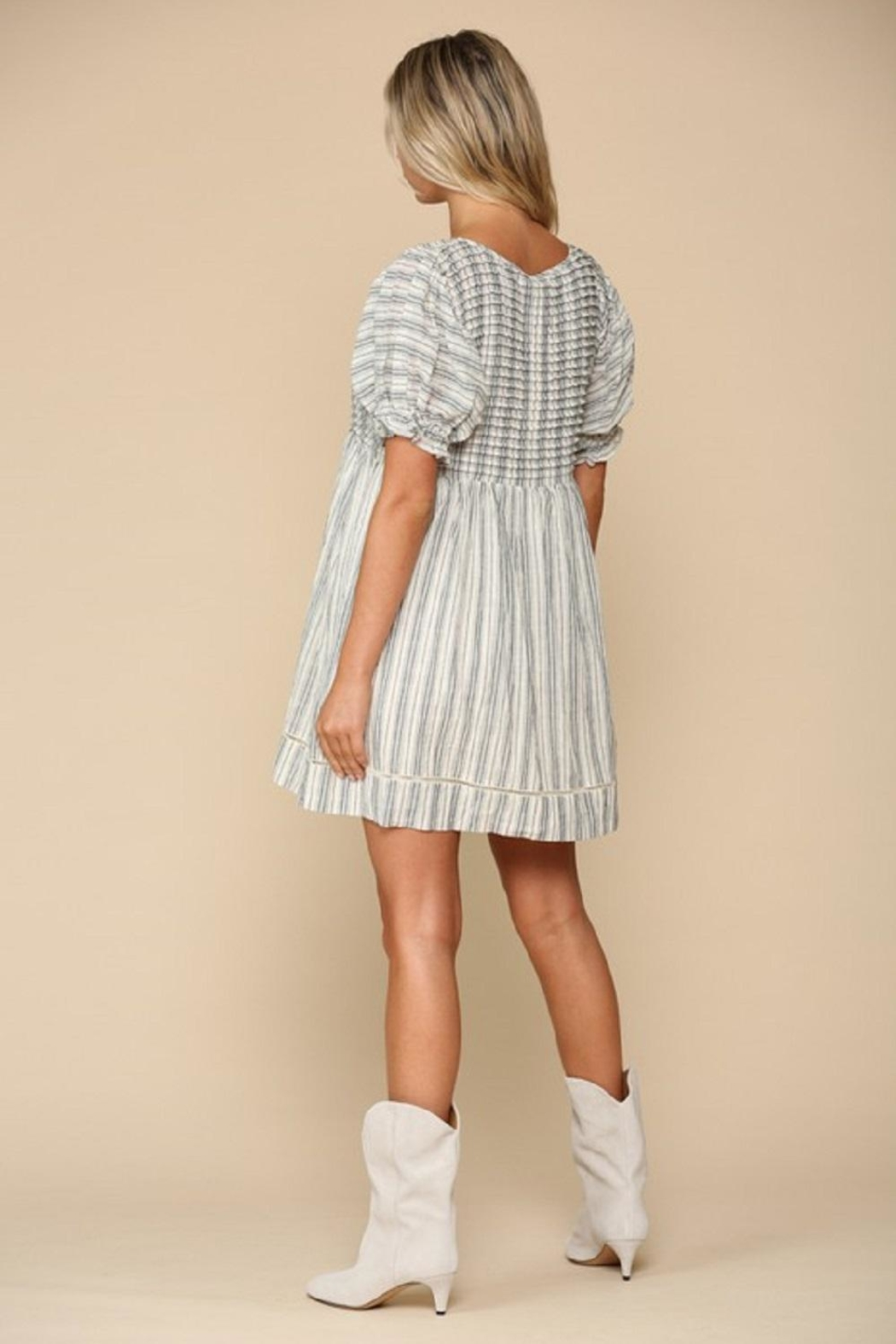 By Together Woven Stripe Dress - Front Full Image