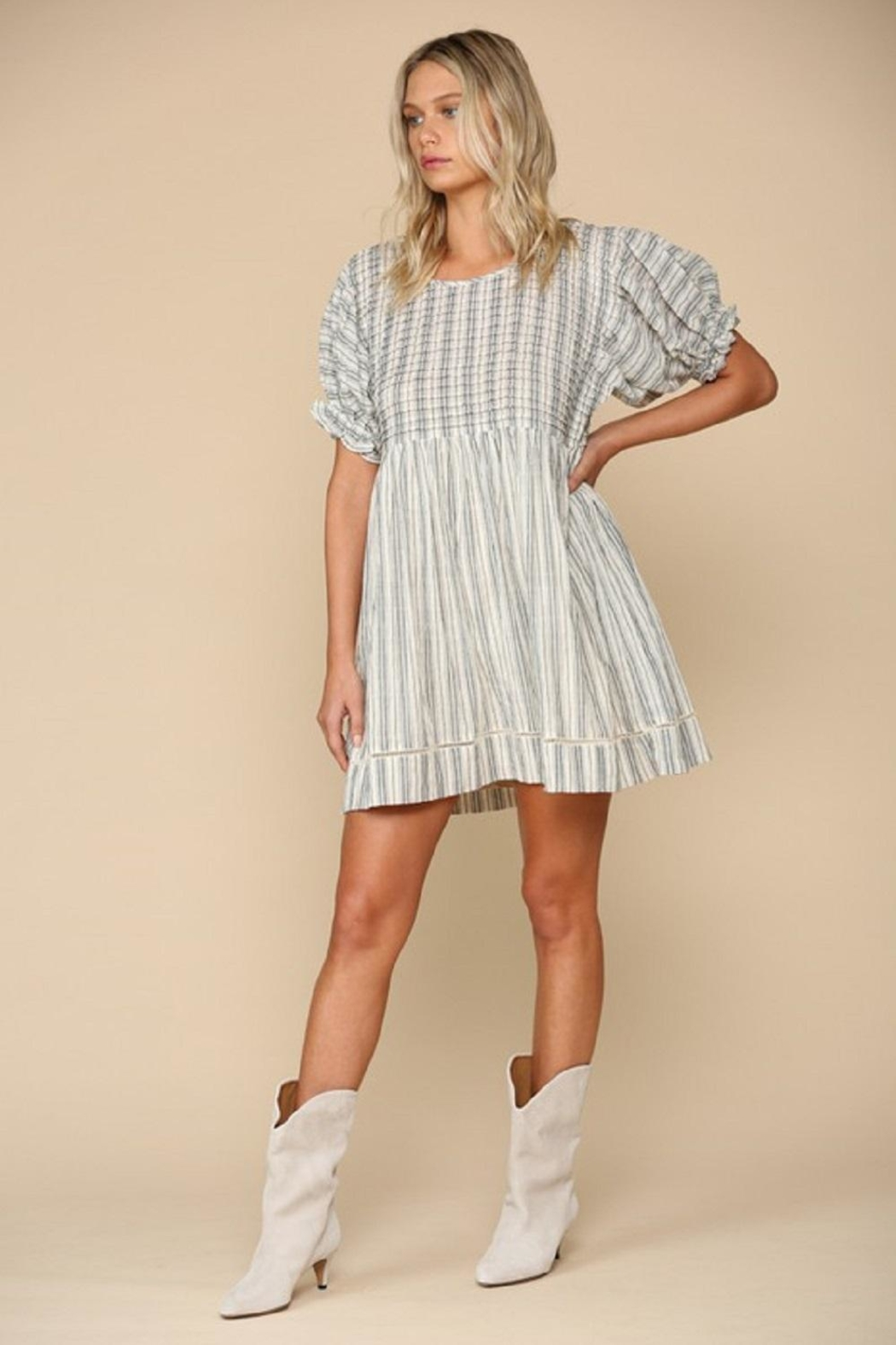 By Together Woven Stripe Dress - Main Image