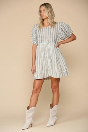 By Together Woven Stripe Dress - Front cropped