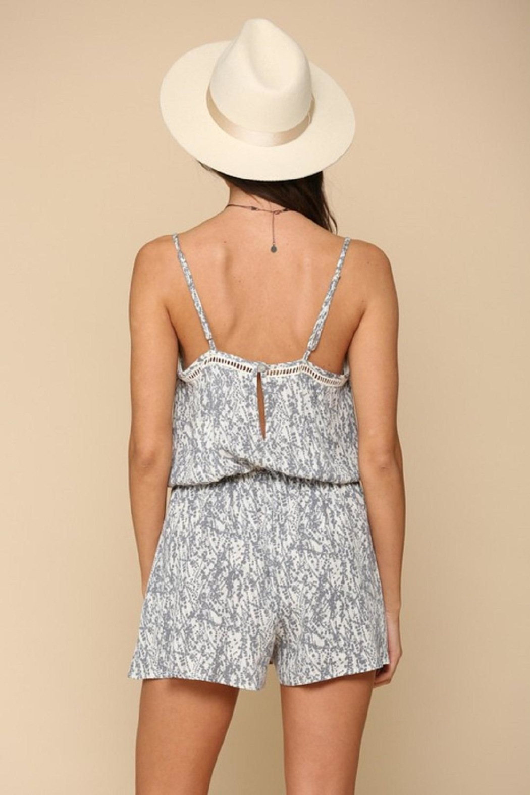 By Together Woven Stripe Romper - Back Cropped Image