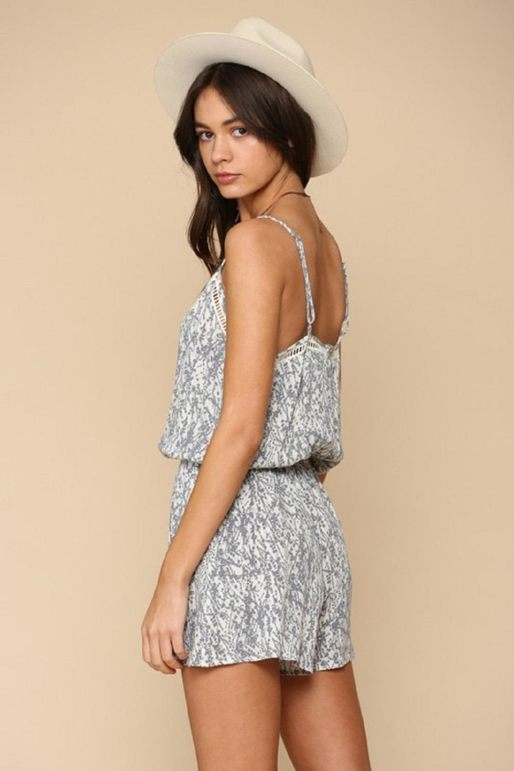 By Together Woven Stripe Romper - Side Cropped Image