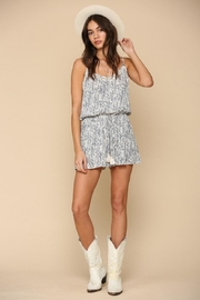 By Together Woven Stripe Romper - Front full body