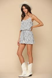 By Together Woven Stripe Romper - Front cropped