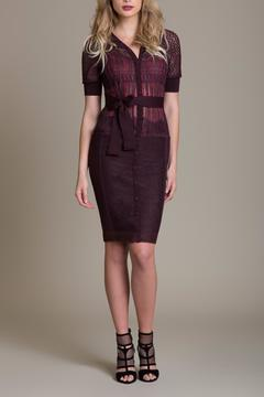 Byron Lars Knit Fringe Sheath - Alternate List Image